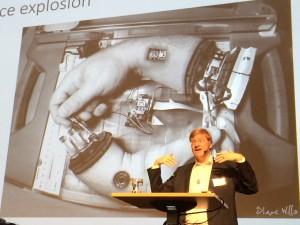 Anders Sandberg på Robotdagen 2015.
